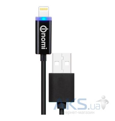 Кабель USB Nomi DCL 10i  Lightning 1m Black