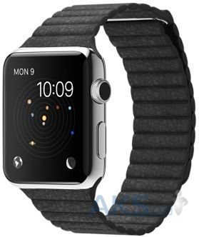 iBest Leather Loop Band for Apple Watch 42mm Black
