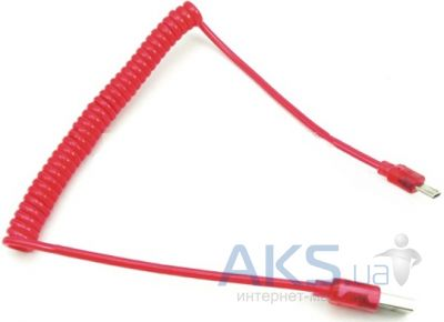 Кабель USB LED Spring micro Red