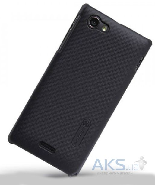 Чехол Nillkin Super Frosted Shield SONY Xperia J ST26i Black