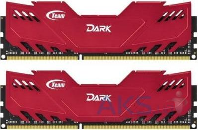 Оперативная память Team DDR3 16GB (2x8GB) 1866 MHz Dark Series Red (TDRED316G1866HC10SDC01)