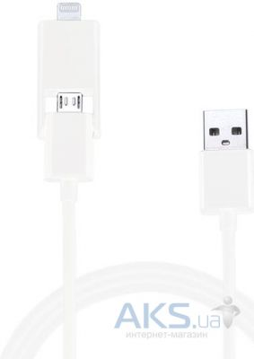 Кабель USB Le Touch iCombo5 Lightning & MicroUSB 2in1 to USB Cable White (AD-105)
