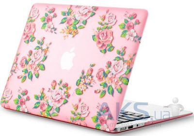 Чехол Kuzy Vintage Flower Case for MacBook Air 13 Pink