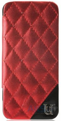 Чехол UUnique Metallic Quilted Glam Folio Hardshell Apple iPhone 5, iPhone 5S, iPhone 5SE Red