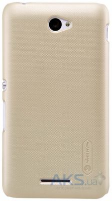 Чехол Nillkin Super Frosted Shield Sony Xperia E4 E2115 Gold