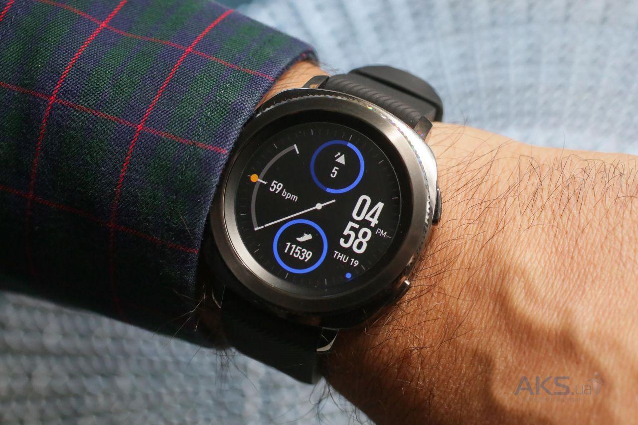 Купить Спортивные часы Samsung Gear Sport Black Sm