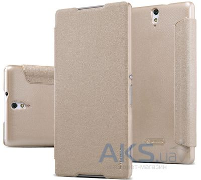 Чехол Nillkin Sparkle Leather Series Sony Xperia C5 E5533 Gold