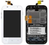 Дисплей (экраны) для телефона Prestigio MultiPhone 4044 DUO + Touchscreen with frame Original White