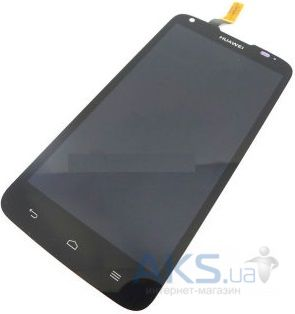 Дисплей (экраны) для телефона Huawei Ascend G710 A199 + Touchscreen with frame Original Black