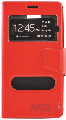 Чехол Book Cover TPU Samsung N910 Galaxy Note 4 Red