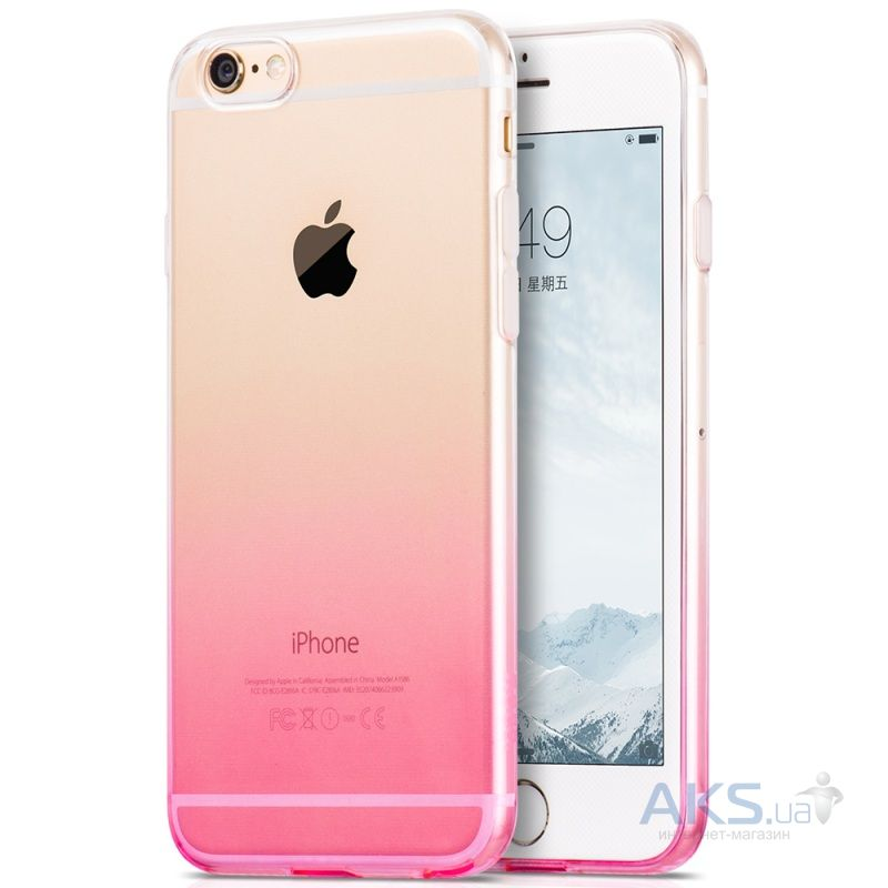 Чехол Hoco Black Gradient Series Apple iPhone 6, iPhone 6S Pink
