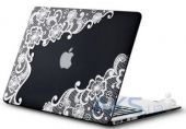 Чехол Kuzy Lace Print Rubberized Case for MacBook Air 13 Black