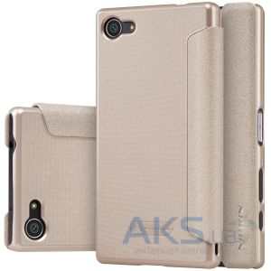 Чехол Nillkin Sparkle Leather Series Sony Xperia Z5 Compact E5823 Gold