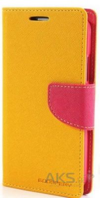 Чехол Mercury Fancy Diary Series Samsung A700 Galaxy A7 Yellow - Crimson