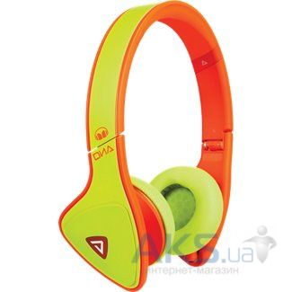 Наушники (гарнитура) Monster DNA On-Ear Headphones Yellow on Neon Orange (MNS-128542-00)