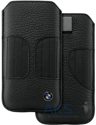Чехол CG Mobile BMW Leather Sleeve Kidney Shape Apple iPhone 5, iPhone 5S, iPhone SE Black (BMPOP5LK)
