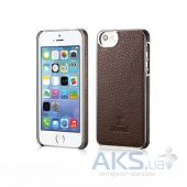 Чехол Xoomz Litchi Pattern Leather Electroplating Apple iPhone 5, iPhone 5S, iPhone 5SE Coffe