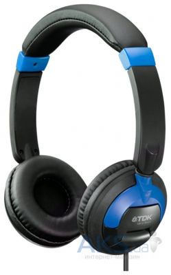 Наушники (гарнитура) TDK ST260s ON-EAR HEADPHONES SMARTPHONE CONTROL Blue