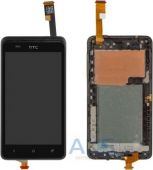 Дисплей (экраны) для телефона HTC Desire 400 Dual Sim, One SU T528w Dual Sim + Touchscreen with frame Original Black