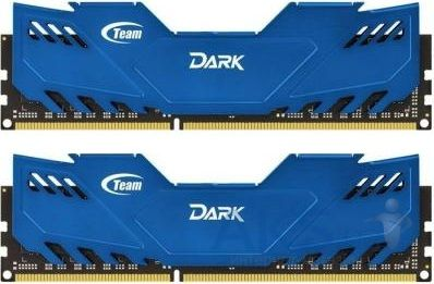 Оперативная память Team DDR3 16GB (2x8GB) 1866 MHz Dark Series Blue (TDBED316G1866HC10SDC01)