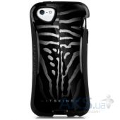 Чехол ITSkins Sesto HD for iPhone 5/5S Black/White (APH5-SESHD-BKWH)