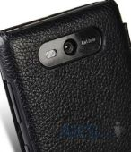 Вид 6 - Чехол Melkco Book leather case for Nokia Lumia 820 Black (NKLU82LCFB2BKLC)