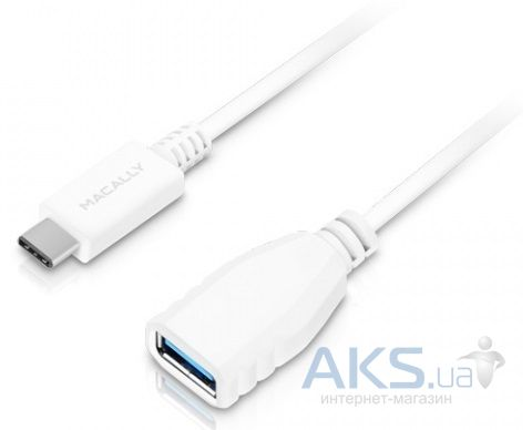 Macally USB-C 3.1 to USB White