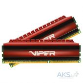 Оперативная память Patriot DDR4 32GB (2x16GB) 3000 MHz Viper 4 (PV432G300C6K)