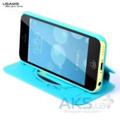 Вид 4 - Чехол Usams Book case Batterfly for iPhone 5C Green