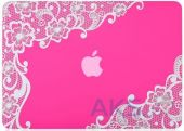 Вид 2 - Чехол Kuzy Lace Print Rubberized Case for MacBook Air 13 Pink