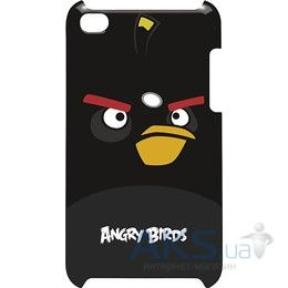 Чехoл Angry Birds Protective Case Bomber Black for iPod touch 4G