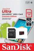 Вид 2 - Карта памяти SanDisk 200 GB microSDXC Android Ultra + SD adapter (SDSDQUAN-200G-G4A)
