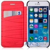 Чехол Momax Elite Flip Case for iPhone 6 Plus Red (FDAPIP6LBDR)