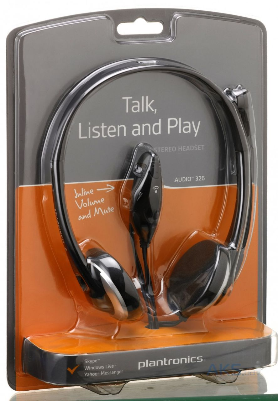 Наушники Plantronics Audio 326 Black - фото 4