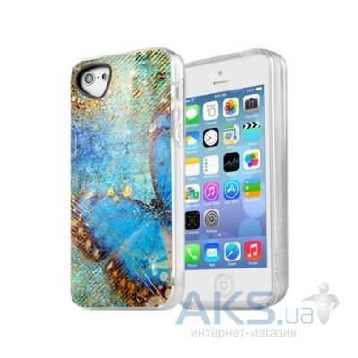 Чехол ITSkins Phantom cover case for iPhone 5/5S Blue Butterfly (APH5-PHANT-BBTF