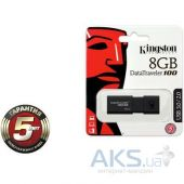 Вид 3 - Флешка Kingston 8Gb DataTraveler 100 Generation 3 USB3.0 (DT100G3/8GB) Black