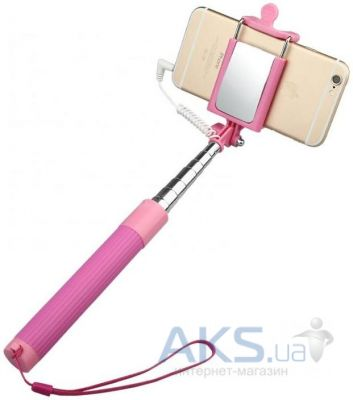 Монопод Baseus Monopod with AUX-cable Pink