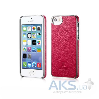 Чехол Xoomz Litchi Pattern Leather Electroplating Apple iPhone 5, iPhone 5S, iPhone 5SE Rose
