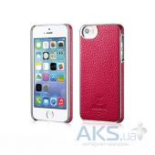 Чехол Xoomz Litchi Pattern Leather Electroplating Apple iPhone 5, iPhone 5S, iPhone SE Rose