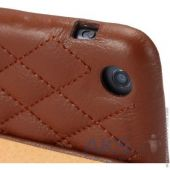 Вид 5 - Чехол для планшета JisonCase Quilted Leather Smart Case for iPad mini/mini 2 Brown (JS-IDM-02G20(002D))