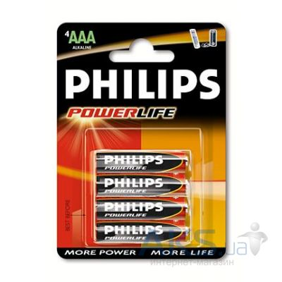 Элемент питания Philips AAA (LR03) Power Life 1шт