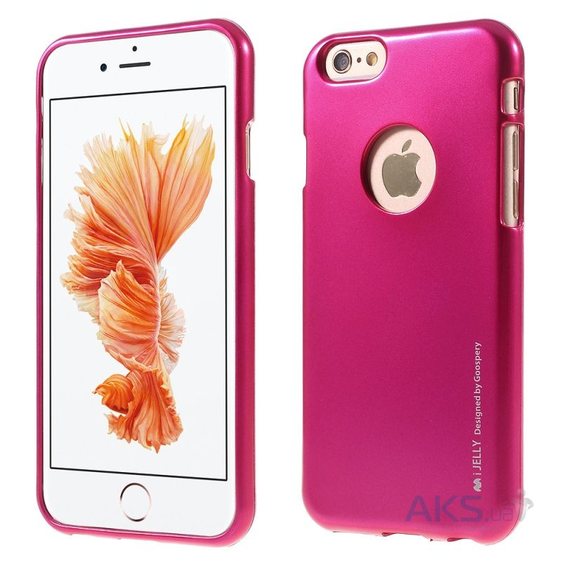 Чехол Mercury Jelly Metal Series Apple iPhone 6, iPhone 6S Crimson