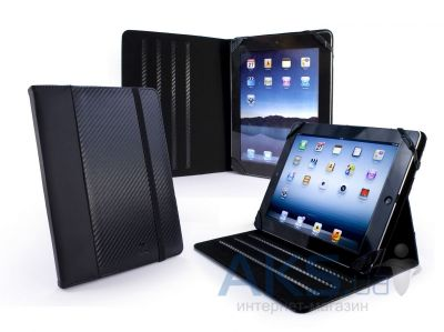 Чехол для планшета Tuff-Luv Slim-Stand Faux Leather Case Cover for iPad 2,3,4 Carbon Fibre Black (C10_66)