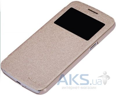 Чехол Nillkin Sparkle Leather Series Samsung G7102 Galaxy Grand 2 Gold