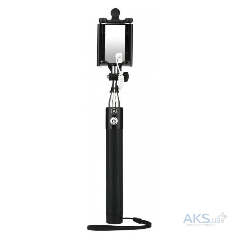 Монопод Baseus Monopod mini-series with AUX-cable Black