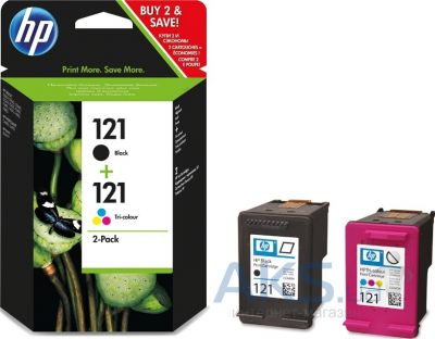 Картридж HP No.121 Combo Pack (CN637HE) Black/Tri-color