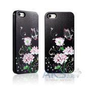 Вид 2 - Чехол Star5 Graceful Luxury Butterfly & Flower Apple iPhone 5, iPhone 5S, iPhone 5SE Black (with Swarovski)