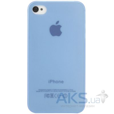 Чехол Perfektum UltraThin Case for Apple iPhone 4/4S Mate Blue