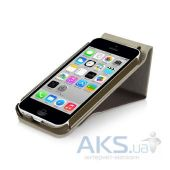 Вид 4 - Чехол Macally Flip Case W. Rotatable Stand For iPhone 5C Beige (SSTANDP6-B)