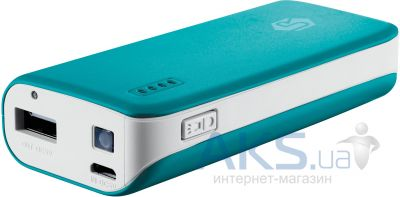 Внешний аккумулятор power bank Trust Urban Revolt Power Bank 4400 Blue